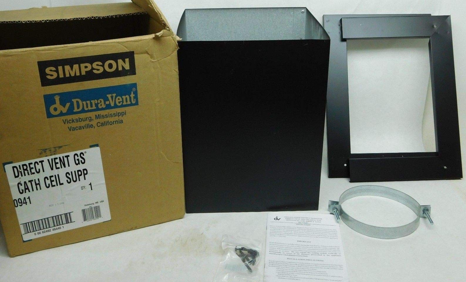 Simpson 14'' x 6-3/4'' Direct-Temp Direct Vent Cathedral Ceiling Support Box WE