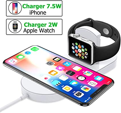 Amazon.com: Cargador inalámbrico para iPhone Apple Watch, P ...