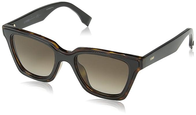 Fendi 0195S Sonnenbrille Havanna und Schwarz LC1 50mm xXzeTqz65p