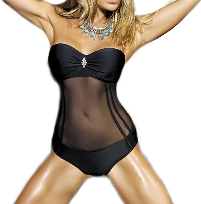AC Damen Sommer Tankini Bikini Push Up Badeanzug Bademode Strand Schwimmanzug