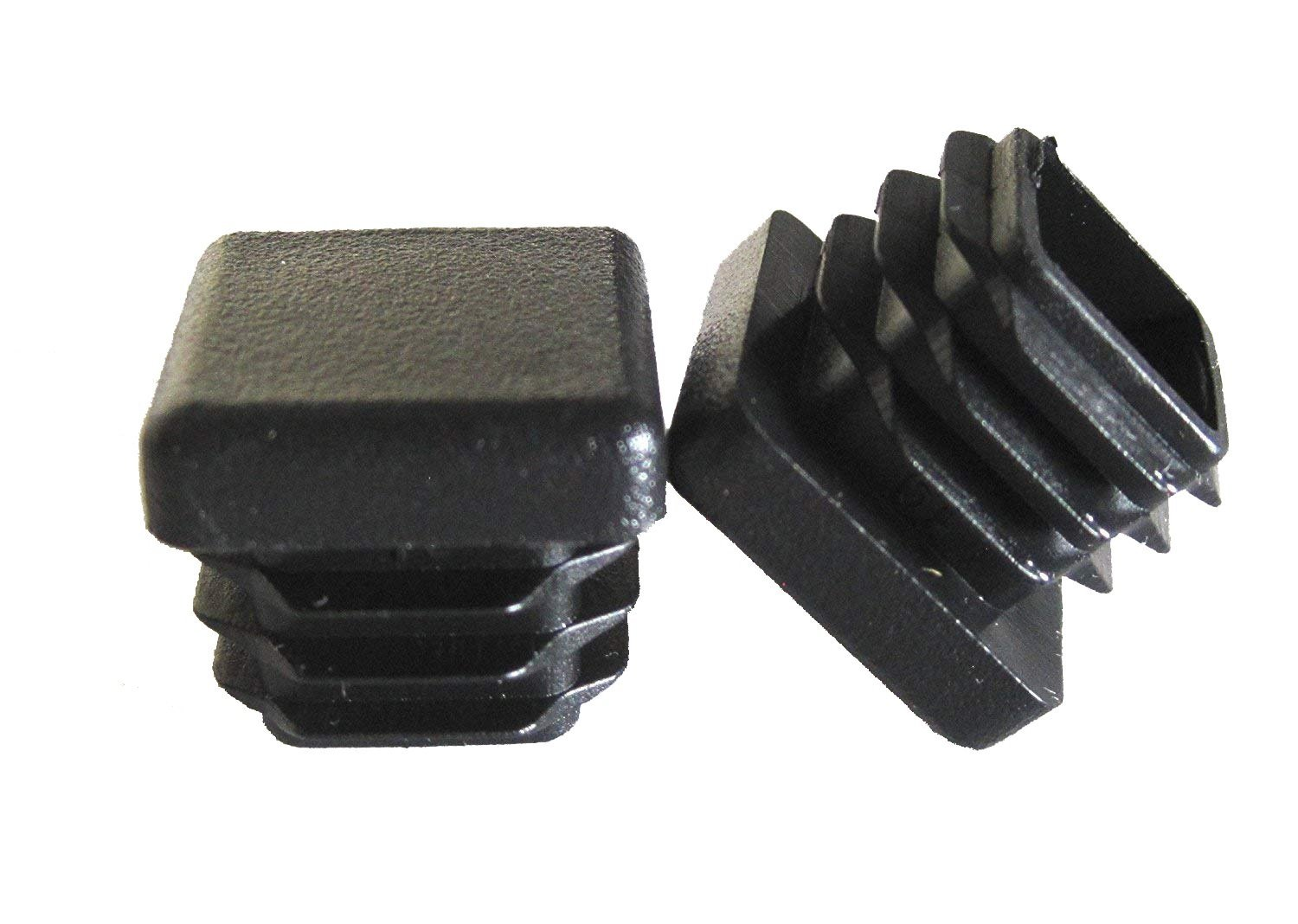 OGC (10 Pack) - 3/4' Black Square Tubing for Plastic Plugs by 3/4 inch Cap Cover Tube Chair Glide Insert Finishing Plug