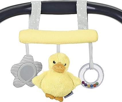 Gelb Sterntaler Spielzeug zum Aufh/ängen mit Klettverschluss Ente Edda Alter: F/ür Babys ab der Geburt