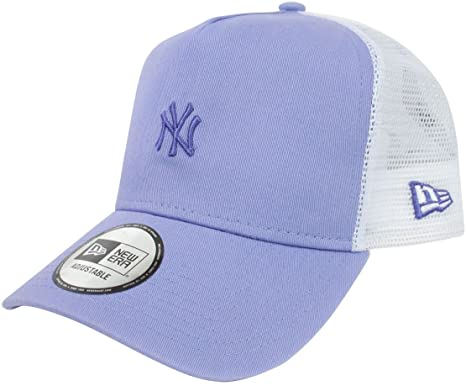 454a8f38e7a Image Unavailable. Image not available for. Color  New Era MLB New York  Yankees Pastel Purple Women s Trucker Cap