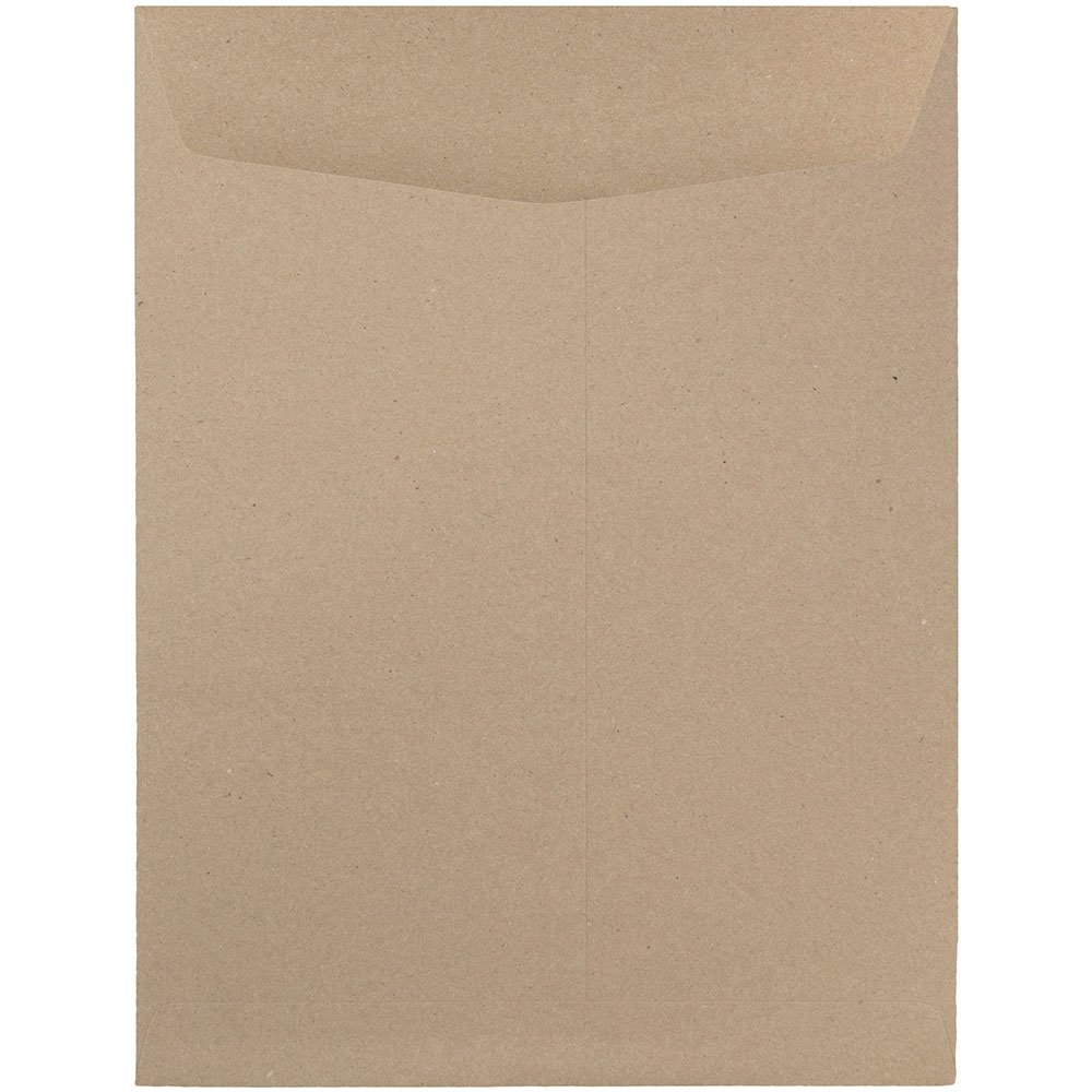 JAM Paper Open End Catalog Envelopes with Gum Closure - 254 x 330.2mm (10 x 13) - Brite Hue Christmas Red Recycled - 100/pack