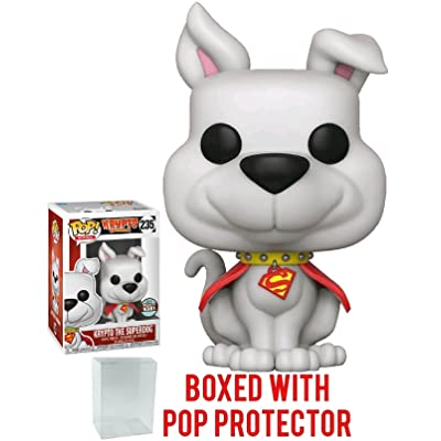 Funko Pop! DC Heroes: Specialty Series - Krypto The Superdog Vinyl Figure (Bundled with Pop Box Protector Case): Toys & Games