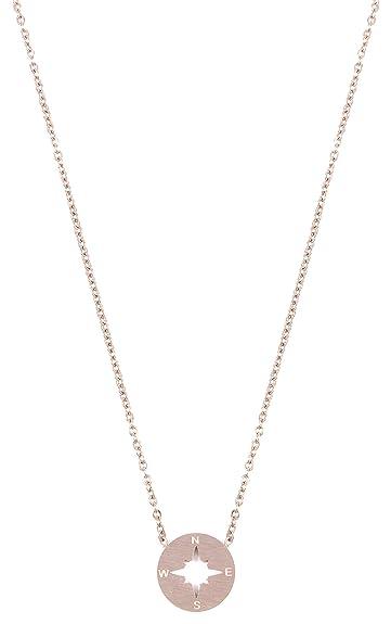 8302cf7d5d123 Happiness Boutique Women Compass Necklace Rose Gold | Delicate ...
