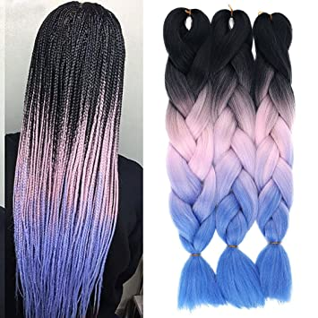Amazon Com Aisi Beauty Ombre Jumbo Braiding Hair Extensions Afro