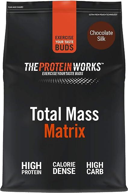 THE PROTEIN WORKS Total Mass Matrix   Ganancia Muscular   Para Ganar Masa  Polvo Proteico   Chocolate Suave   2kg