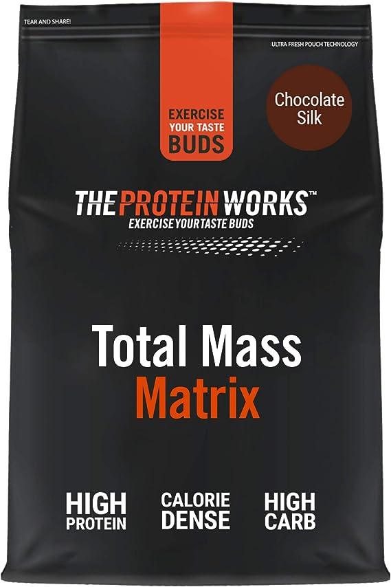 THE PROTEIN WORKS Total Mass Matrix | Ganancia Muscular | Para Ganar Masa| Polvo Proteico | Chocolate Suave | 2kg