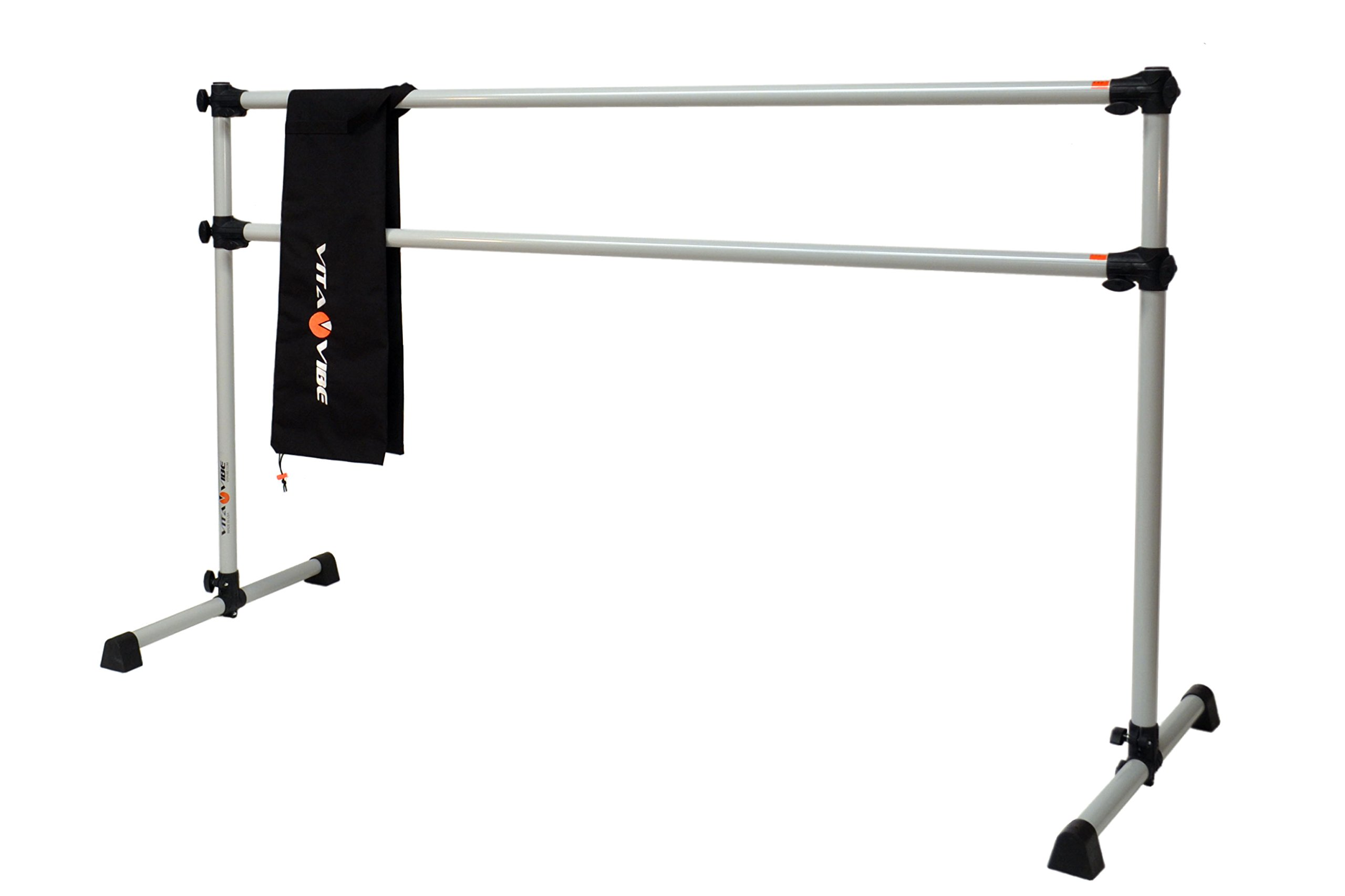 Vita Vibe Ballet Barre - DBNB4 4ft Portable Double Bar w/Bag - Freestanding Stretch/Dance Bar - Vita Vibe - USA Made