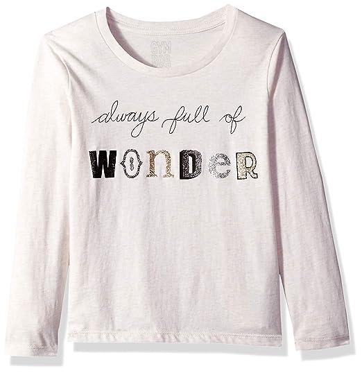 9b94b8b2 Gymboree Girls' Big Long Sleeve Graphic Tee, White Full of Wonder, XX-