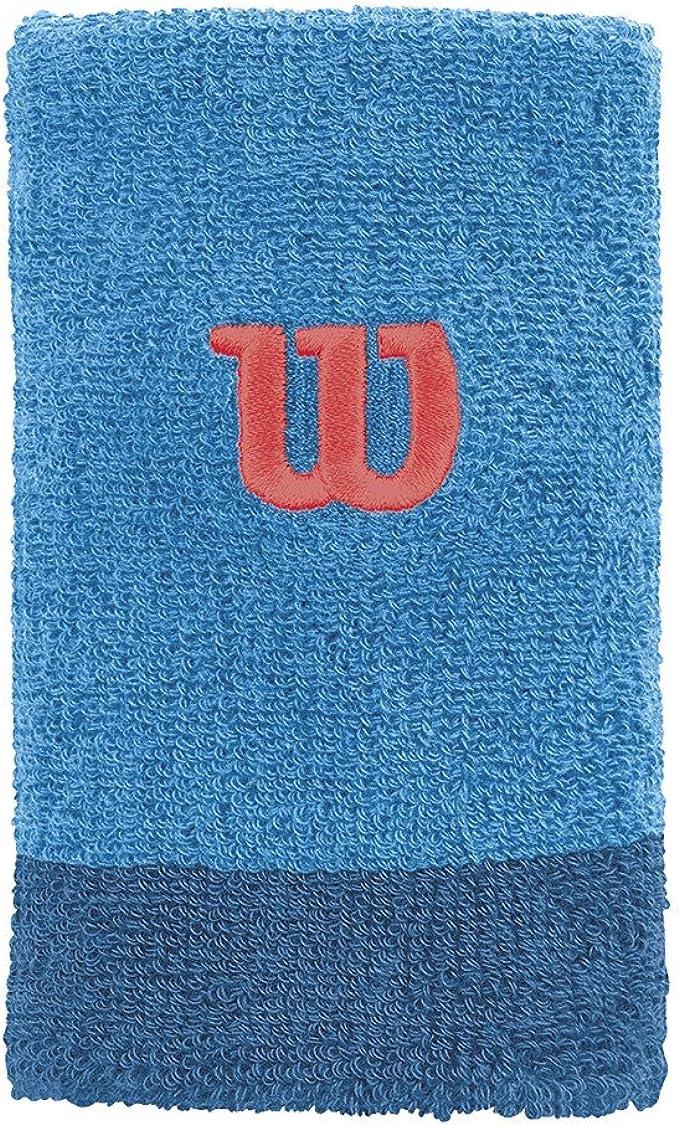 Wilson Extra Wide W Muñequera de Tenis, Hombre, Azul (Blithe/Deep ...