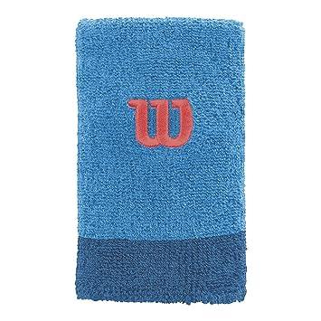 Wilson Extra Wide W Muñequera de Tenis, Hombre, Azul (Blithe/Deep Water Wil), OSFA: Amazon.es: Deportes y aire libre