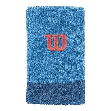WILSON Extra Wide W Muñequera de Tenis, Hombre, Azul (Blithe ...