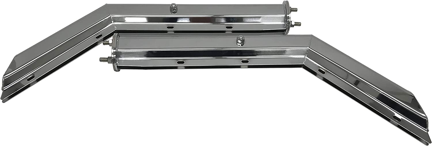 Grand General 30573 Chrome Heavy Duty Straight Spring Loaded Mud Flap Hanger with 2.5 Bolt Spacing