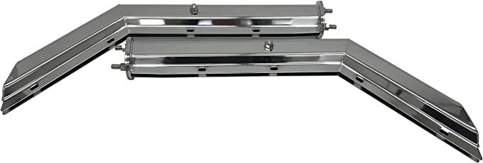 TORQUE 30 Chrome Mud Flap Hanger with 6 of 4 Light Cutouts Spring Loaded 2.5 Bolt Pattern TRMFH308