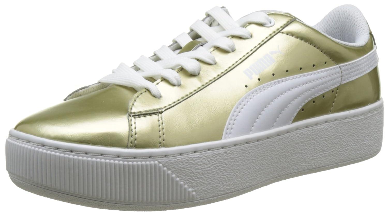 Puma Vikky Platform Metallic, Zapatillas para Mujer 38.5 EU|Beige (Metallic Gold-puma White 01)