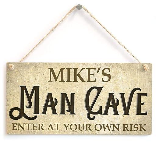 Mikes Man Cave Cartel de Pared Madera Placa Madera Palet ...