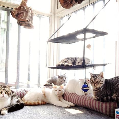 [AIDIYA]Gato para Camas para ventanas con ventosa (Doble)