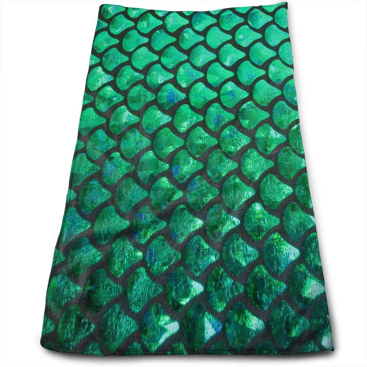 OQUYCZ Mermaid Scales Background Multi-Purpose Microfiber Towel Ultra Compact Super Absorbent and Fast Drying Sports Towel Travel Towel Beach Towel Perfect for Camping, Gym, Swimming.