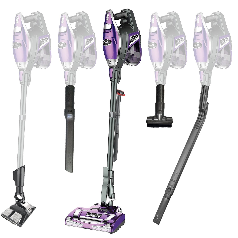 Shark Rocket Vacuum Cleaner | Ultra-Light Powerful Upright Vacuum | Bonus Under Appliance Wand | DustAway Floor Attachment and Microfiber Pad, Pet Multi Tool, with LED Head Lights