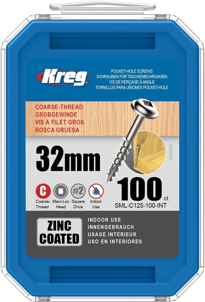 Kreg Pocket Screws Washer Head Coarse Zinc 250 pi/èces