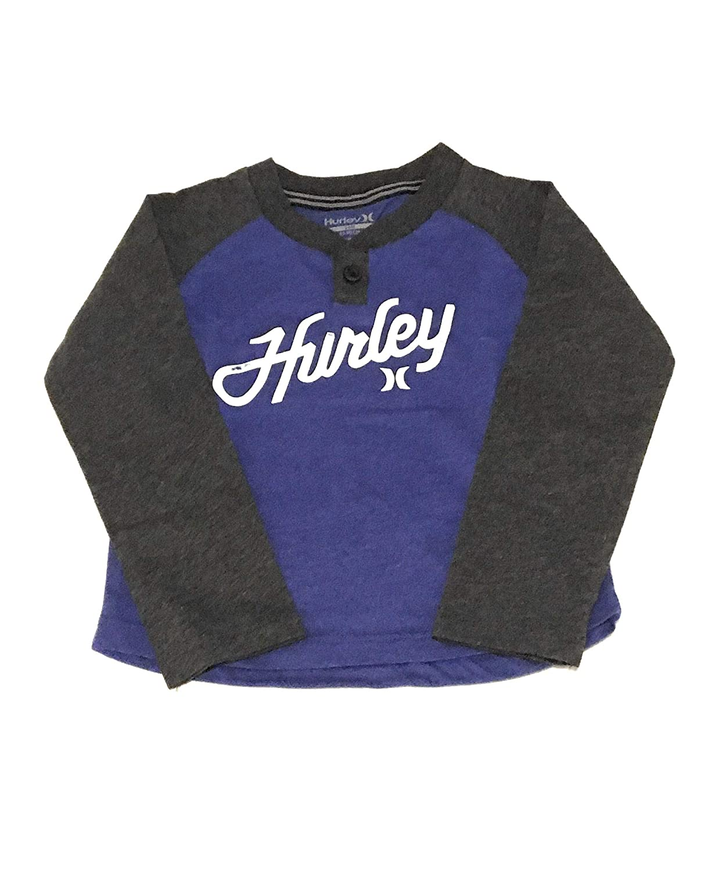 Hurley Infant Boys Long Sleeve Raglan T-Shirt Blue Heather 24 Months