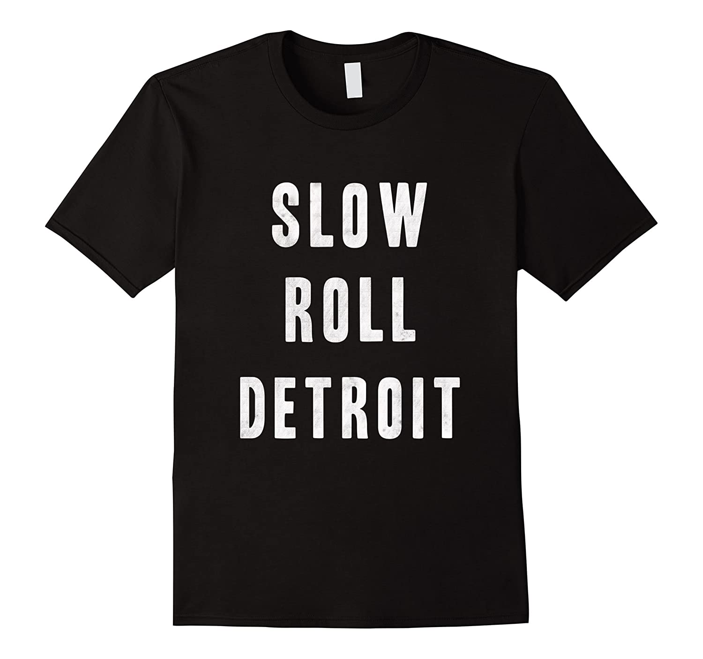 Slow Roll Detroit Vintage Bike T-Shirt-Art