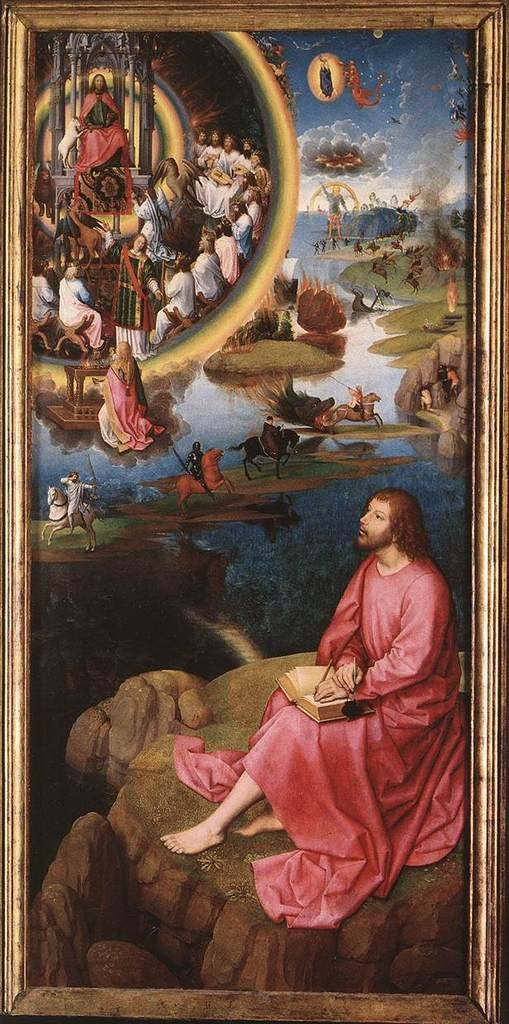 Memling Hans St John Altarpiece (right wing) 100% Hand Painted Replica Oil Paintings 12X16 Inch
