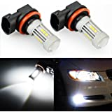 JDM ASTAR 1300 Lumens Extremely Bright 3030 Chipsets H11 LED Bulbs for DRL or Fog Lights, Xenon White (H11)