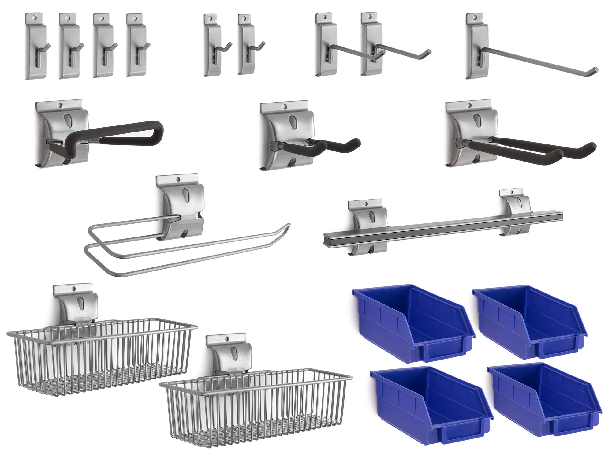 NewAge Products 20-Piece Steel Slatwall Accessory Kit, Garage Wall Organisers, 51721 by NewAge Products Inc.