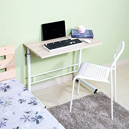 mesa plegable Doble Ascensor Escritorio de computadora Se Puede configurar para Mover Escritorio (Color :