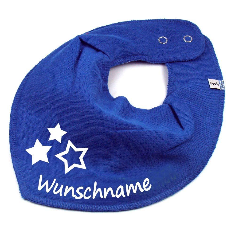 Elefantasie Halstuch DREI Sterne mit Namen oder Text personalisiert Khaki f/ür Baby oder Kind