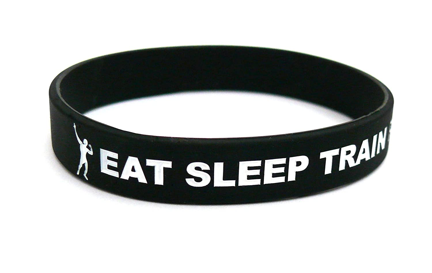 Fitness & Bodybuilding Sportwristband Eat Sleep Train Rpt Black Training Workout Sports Gym CrossFit Equipment Silicone Rubber Band Wristband Bracelet Unisex New sportwristbands.net