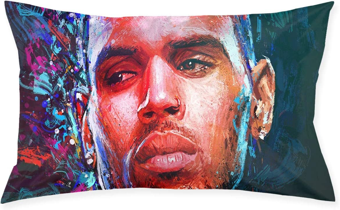 Chris Brown Relaxation Home Decor Polyester Pillow Cases 20x30 Inch Kitchen Dining