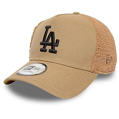 New Era Gorra Trucker MLB Sherpa L.A. Dodgers Beige Arena ...