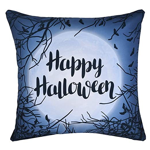 MAYOGO Funda Cojin Letras 45 x 45 Halloween Decoracion Gato ...