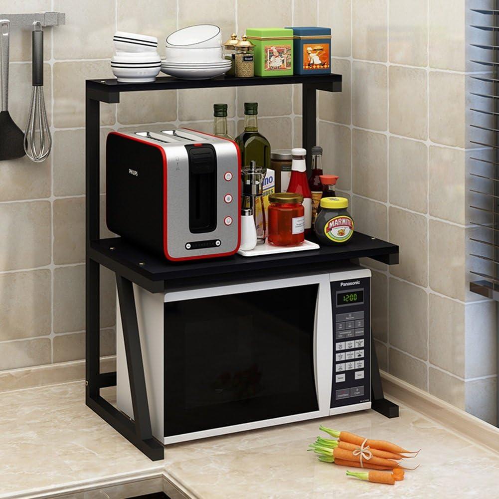 ALF Microwave storage rack Kitchen racks, household appliances, microwave oven racks, seasoning racks, kitchen supplies, storage racks Kitchen shelf (Color : D)