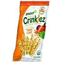 Sprout Organic Crinklez Toddler Snacks, Pumpkin Carrot, 1.48 Ounce Bag (Single) (Pumpkin Carrot, 1-1.48 Ounce (Pack of 1…