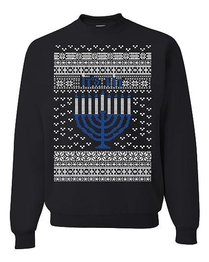 Amazoncom Its Lit Hanukkah Menorah Ugly Christmas Sweater Unisex