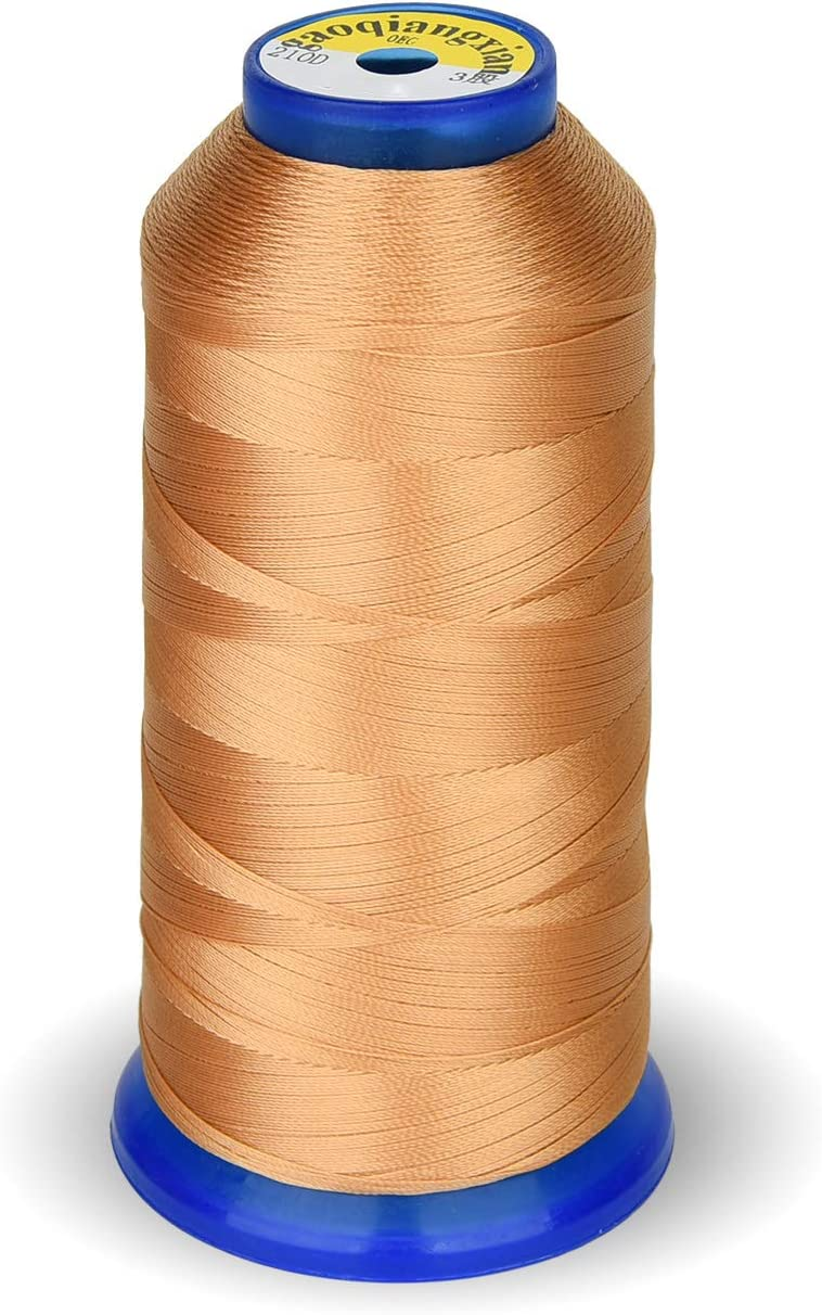 Drapery Upholstery Leather Jeans and Weaving Hair Beading Purses Royal Blue High Strength Polyester Thread Nylon Sewing Thread 1800 Yard Size T70#69 210D//3 for Weaves