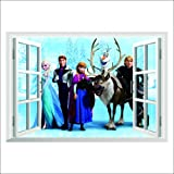 Topro Sticker mural en 3D La Reine des neiges, par Disney