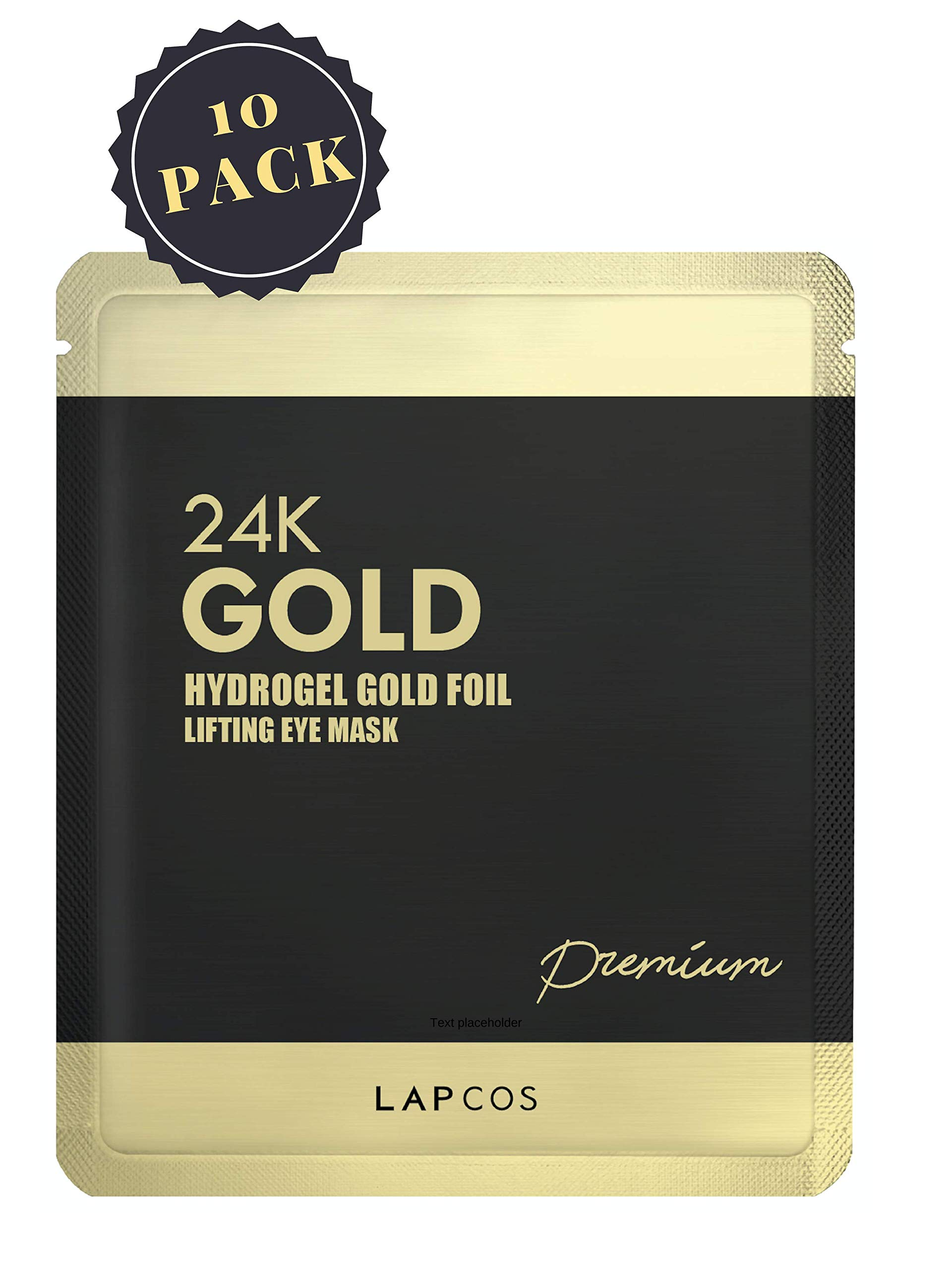 Lapcos 24K Gold Foil Hydrogel Eye Mask (10pack)