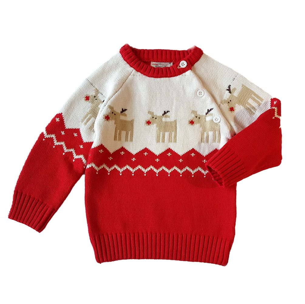 AOWEER Kids Knitted Pullover Christmas Sweater Toddler Cute Holiday Jumper Tops