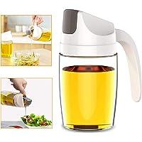Botella dispensadora de aceite de oliva, 300 ml, a prueba de fugas, vinagre de vidrio con tapa y tapón automático…