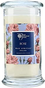 Wax Lyrical Rose Scented Jar Candle - RHS Fragrant Garden Collection - Made in England