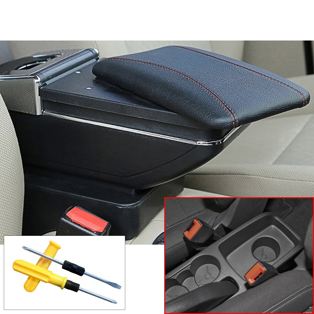 For 2009 2017 Ford Fiesta 3 Mk7 Car Interior Accessories Fuse Box Center Consoles Armrest Boxlarge Storage Spaceprovide Arm Rest Placeremovable
