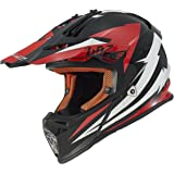 LS2 Helmets Fast Mini Race Youth Off-Road MX Motorcycle Helmet (Red/White, Small)