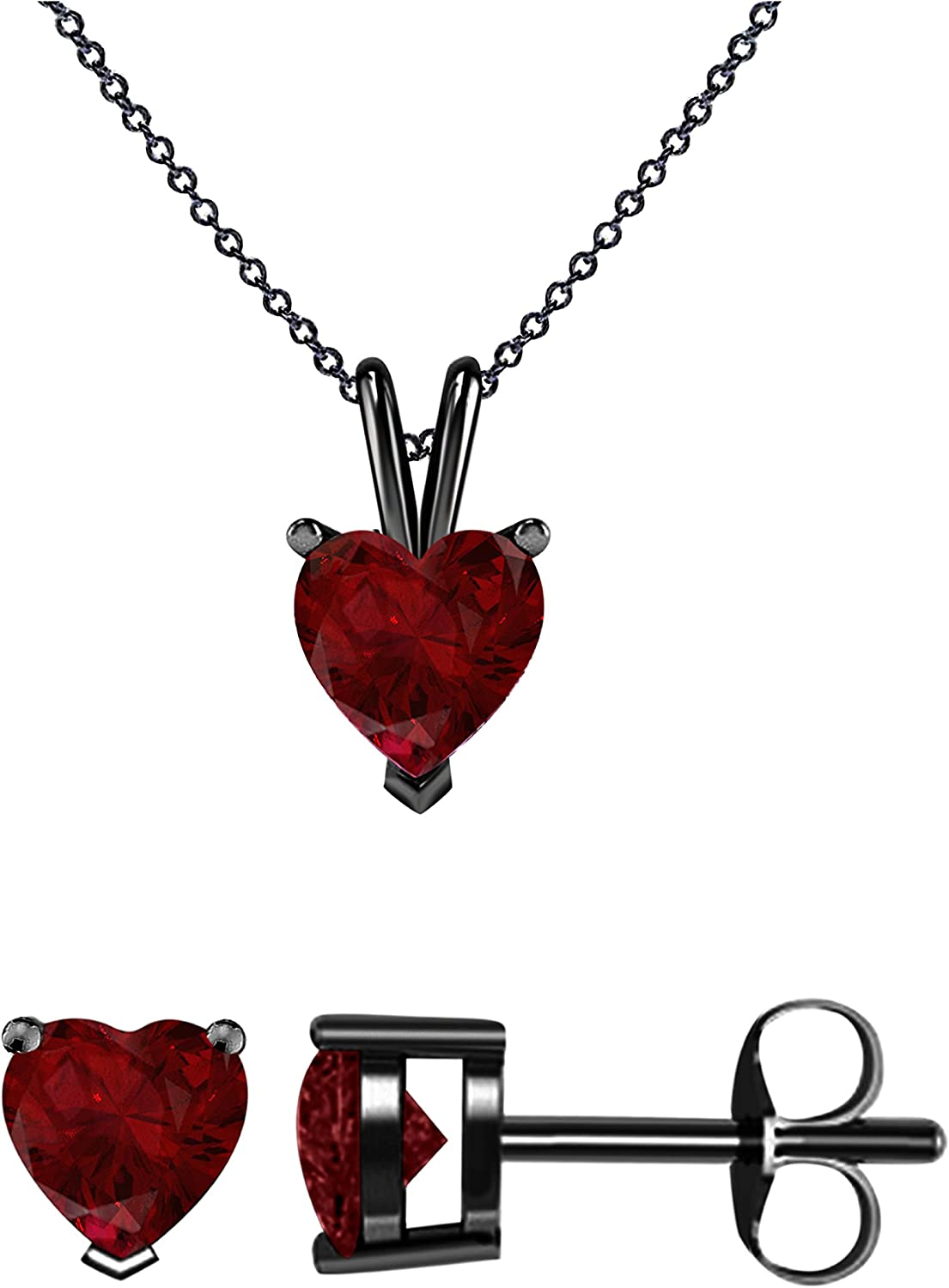 Gomesjewels Created Round Cut Ruby Gemstone 925 Sterling Silver 14K Gold Finish Unique Pendant Necklace for Womens /& Girls