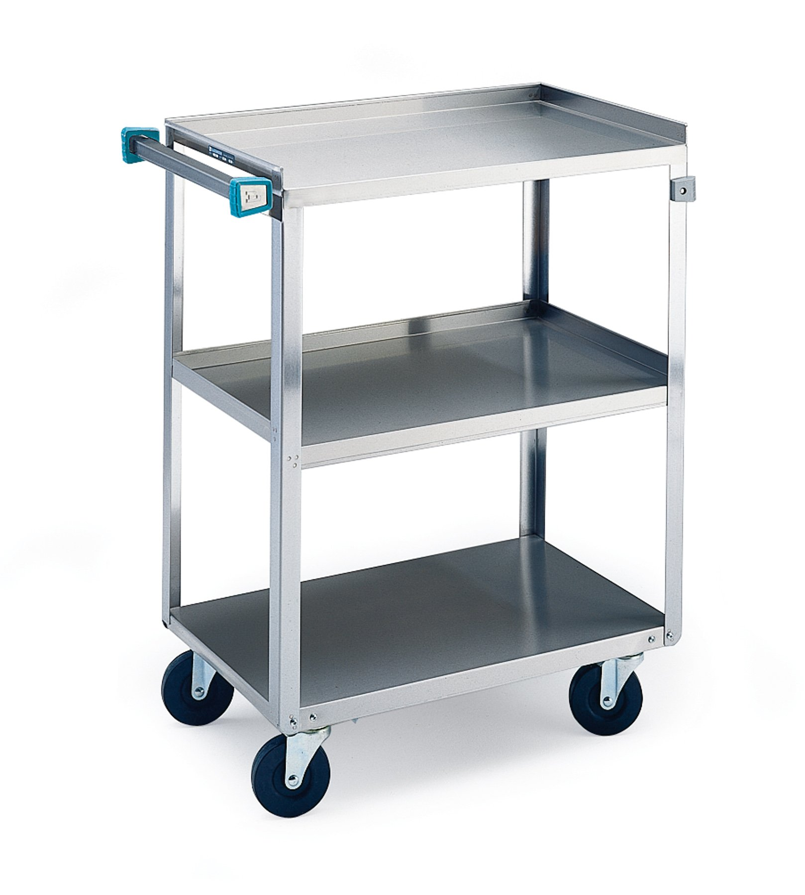 Lakeside 311 Traditional Duty Utility Cart, 3 Shelves, Stainless Steel, 300 lb Capacity, 16- 1/4'' x 27- 1/2'' x 32- 1/8''